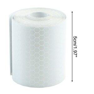 Image 5 - 1Pc Colorful Argento Bianco Riflettente di Sicurezza di Avvertimento Conspicuity Tape Autoadesivo della Pellicola