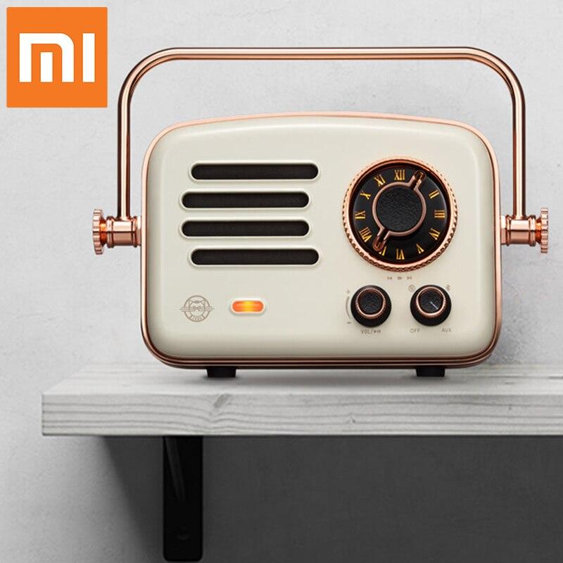 Nouveau Xiaomi radio intelligente rétro futurisme réseau FM station HIFI niveau charge Bluetooth AUX haut-parleurs Wifi Internet Portable Radio