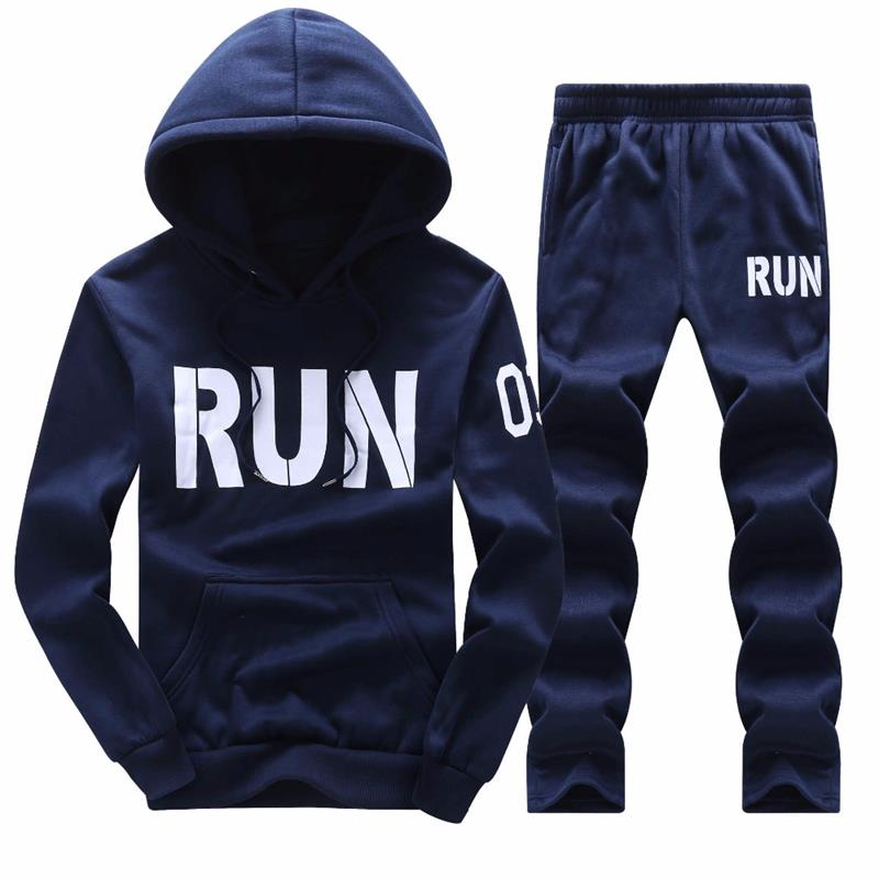Sweatshirt Men Sportswear Set 2018 Tracksuit Spring Summer Set Leisure Men's Hoodie Pants Two Piece Set Size M-4XL Wholesale (6)