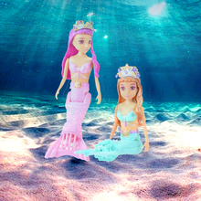 New Battery Operated Mermaid Doll Underwater Marine Elves RC submarine Reomte Control Boat Electric Doll As Birthday Gift