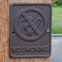 Cast Iron Sign - No Smoking