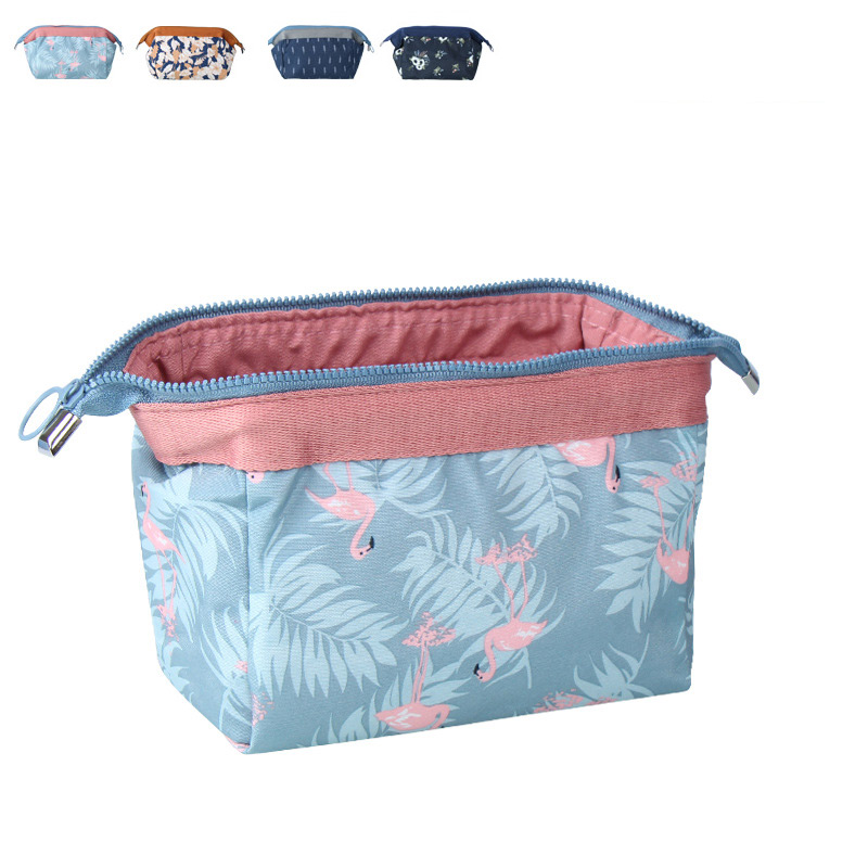 Generous New Arrivals Adults Children Portable Flowers Leaves Printed Zipped Wash Makeup Bags Outdoor Sports Camping Traveling Equipment Outdoor Tools