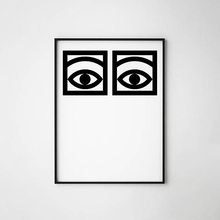 цена Olle Eksell Eyes Cacao poster canvas art print home decor Eyes Minimal Art design Cacao Modern Canvas Painting Wall pictures онлайн в 2017 году