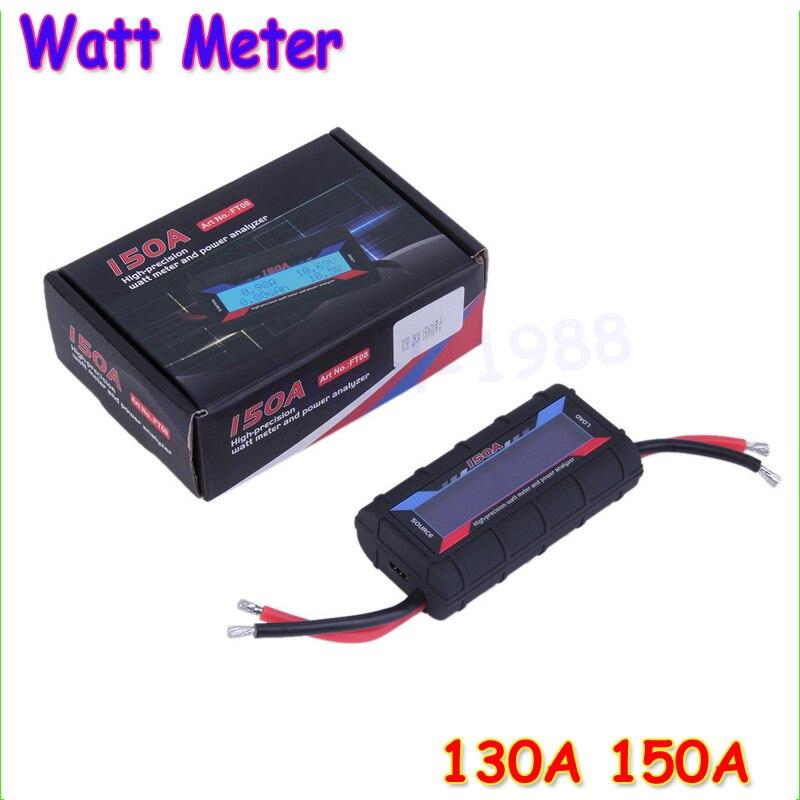 1pcs New 6.5V-60V 130A 150A LCD G.T Power RC Watt Meter Tester and Power Analyzer High Precision Wholesale