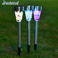JIaderui 3pcs Lot LED Solar Lights Solar Pannel Power Lamp For Lawn Garden Outdoor Waterproof Solar