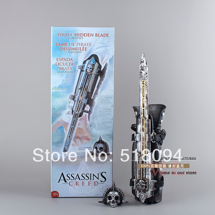 Free Shipping NECA Assassins Creed 4 Four Black Flag Pirate Hidden Blade Edward Kenway Cosplay New in Box MVFG123 hot new assassins creed syndicate 1 to 1 pirate hidden blade edward kenway cosplay new in box toy