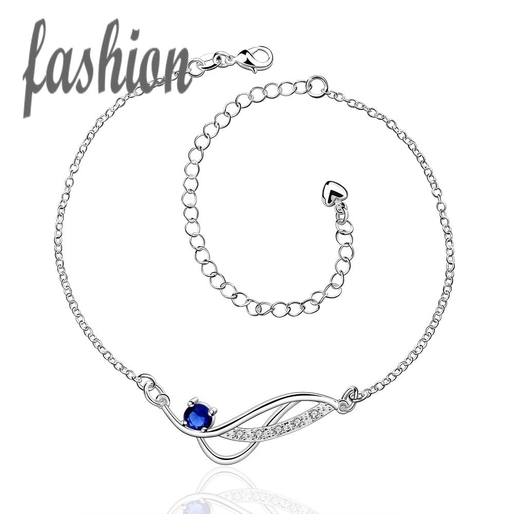 Anklets Jewelry & Accessories Hot Sale Silver Plated Anklet,new Design Fashion Silver-plated Jewelry,delicate Handmade Cheap Anklets For Gift Smta036-d