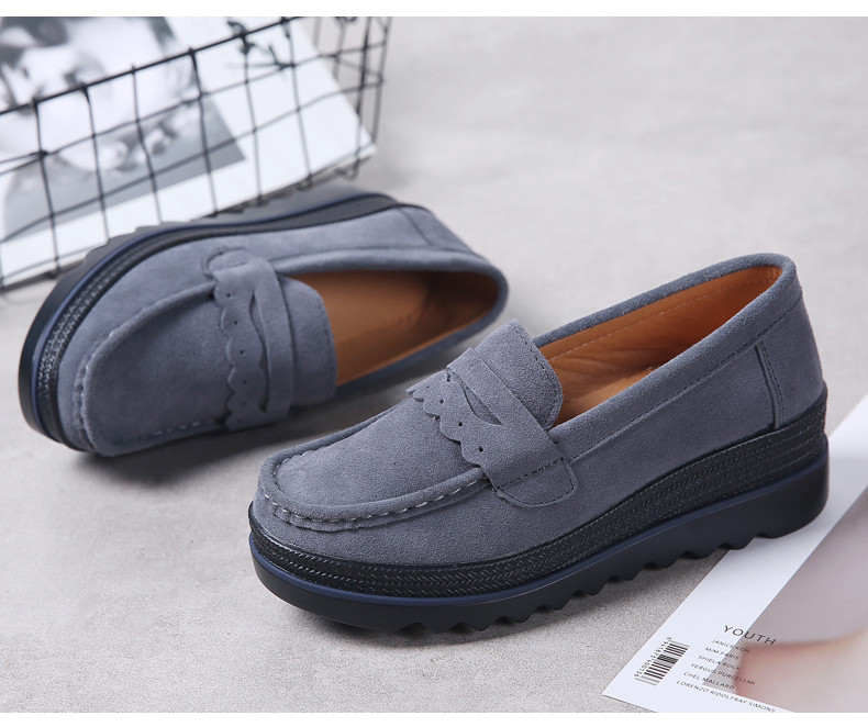 HX 8775-Spring Autumn Genuine Leather Women Shoes-3