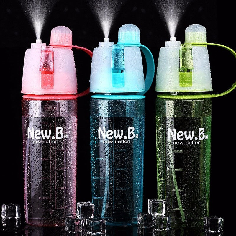 New 3 Colors Sale Hot Spray Bottles of Water  Outdoor Sport Shaker my  Bicycle Bottle Plastic Portable Water 600 ml Cute kettle|Sports Bottles|Sports & Entertainment - title=