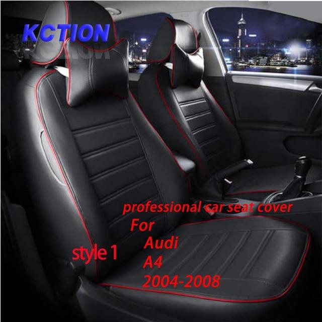 11 Colores A Medida Cubierta de Asiento de Coche para Audi A4 (2004-2008) Compuesto de la pu Estilo Totalmente envuelto accesorios Protector