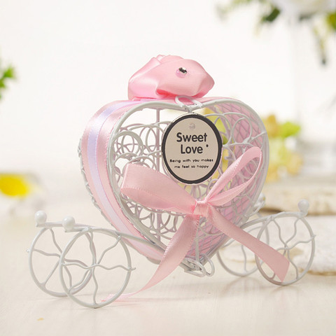 Dropshipping 1pc New Candy Boxes Romantic Carriage Sweets Chocolate Box Wedding Party Favors Islamabad
