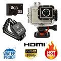 """Full HD 1080 P câmera Novatek 96650 Chip 2 """" 8MP 50 M impermeável 150 grande angular câmera / DVR"""