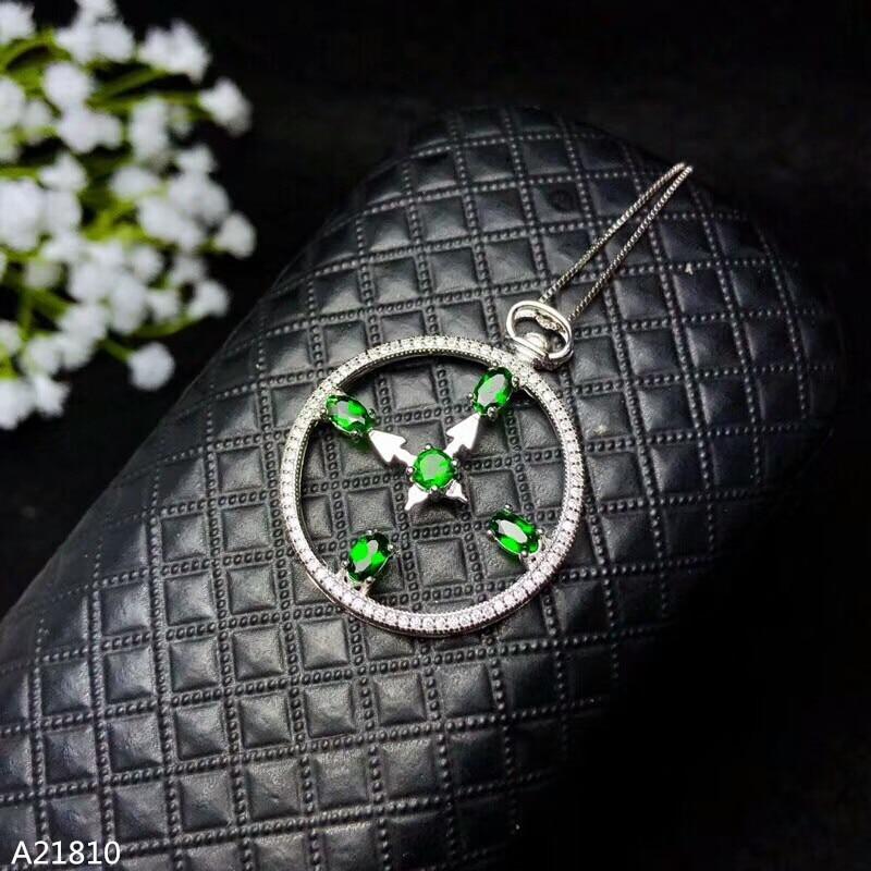 KJJEAXCMY boutique bijoux 925 argent pur veut être un pendentif dame en pierre naturelle + collier bijoux.