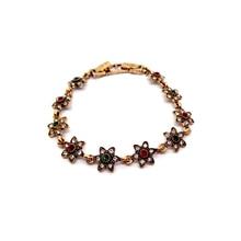 2019 Bohemia Gold Colour Flower Stars Bangle For Women Fashion Gift Retro Style Bracelet Zircon Stones Jewelry Wholesale B14