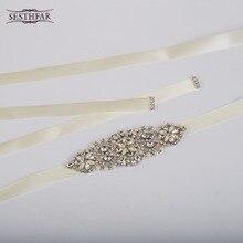 New Arrive Women Luxurious Floral New Crystal Rhinestone Wedding Dress Belt Cummerbunds Waistband Girdle Headband Handcraft