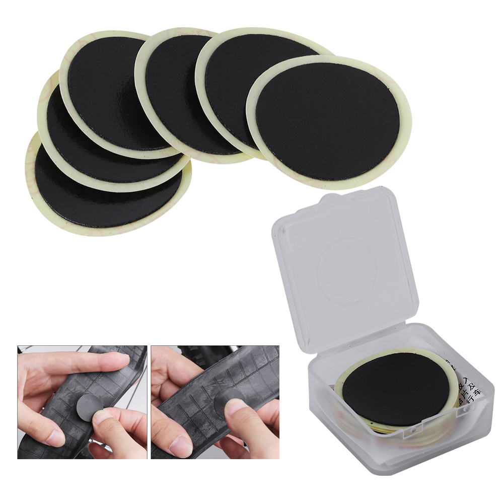 Cycling Mountain/Road Bike Tyre Puncture Fast Repair Tools Bicycle Inner Tire Patches Without Glue Tire Self-Adhesive Patch