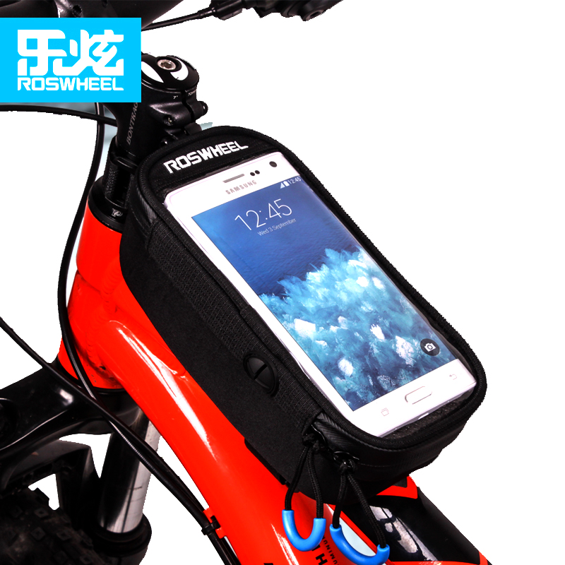 ROSWHEEL bicycle bag mtb bike front frame top tube bag cycling bag bags accessories waterproof anti skid for 5.2 5.7 inch phone