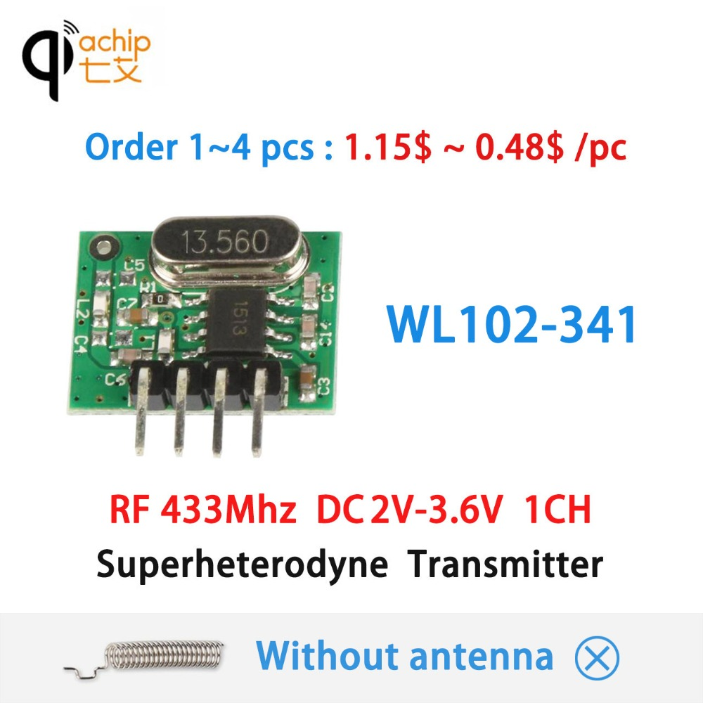 Qiachip 433mhz Cloning Remote Control Duplicator Clone Fixed Audio Receiver 433 Mhz Rf Module Using Circuit Diagram Nonstop Free In Transmitter Superheterodyne Ask Dc 1ch For Mcu Arduino Uno Diy Kits 43392