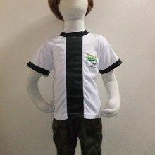 Детские вечерние костюмы для костюмированной вечеринки на Хэллоуин, Ben 10: Гонки против времени, одежда для ролевых игр для мальчиков BEN-10, футболка с короткими рукавами