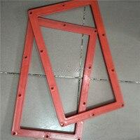 Glass frame for sandblasting machine, sand blasting machine part