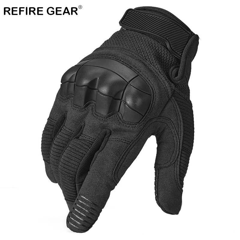 ReFire Gear Winter Military Tactical Outdoor Sport Gloves Men Camping Hiking Full Finger Glove Shell Protect Knuckle Army Gloves