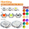 High Power LED chip 30mil 1W 3W 5W 10W 20W 30W 50W 100W Blue Green Cyan Yellow Red Orange Purple UV IR Warm Cool Cold White Bulb