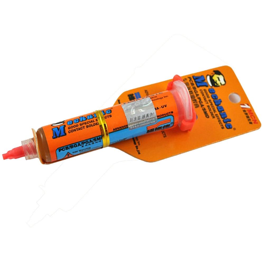 New Mechanic RMA-UV10 10cc Soldering Paste Flux For Soldering Iron BGA Solder Station Tin Cream BGA Flux With Needles