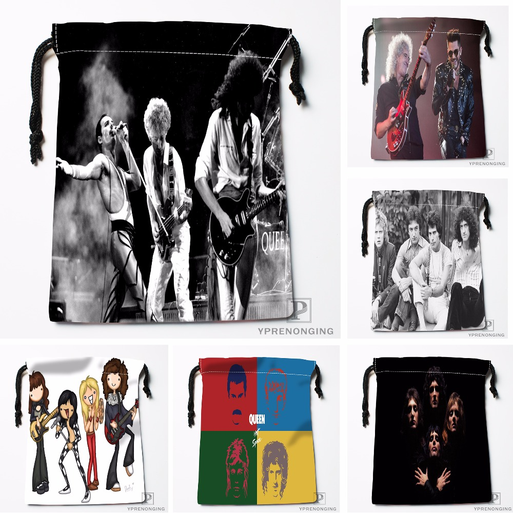 Custom Queen Band Painting Drawstring Bags Printing Travel Storage Mini Pouch Swim Hiking Toy Bag Size 18x22cm#180412-11-31