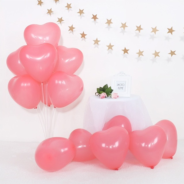 100pcs/lot Birthday Balloons 10inch Latex Helium Balloon Thickening Pearl Party Balloon Party Ball Kid Child Toy Wedding Ballons