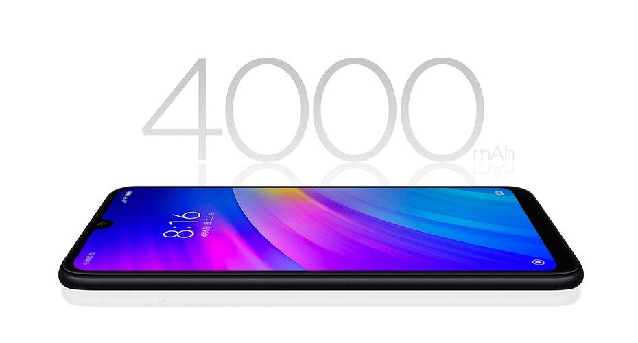 Global Rom Xiaomi Redmi 7 4GB RAM 64GB ROM Snapdragon 632 Octa Core 12MP Dual AI Camera Mobile Phone 4000mAh Large Battery