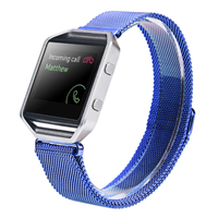 New Arrive Luxury Milanese Loop Strap Link Bracelet Stainless Steel Band For Fitbit Blaze Watch 42mm
