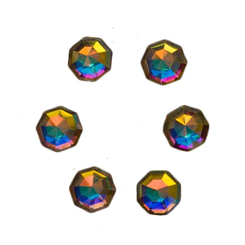 YANRUO 72 հատ 6mm # 2553 Crystal AB 3D Cossip Եղունգների - Մանիկյուր - Լուսանկար 1