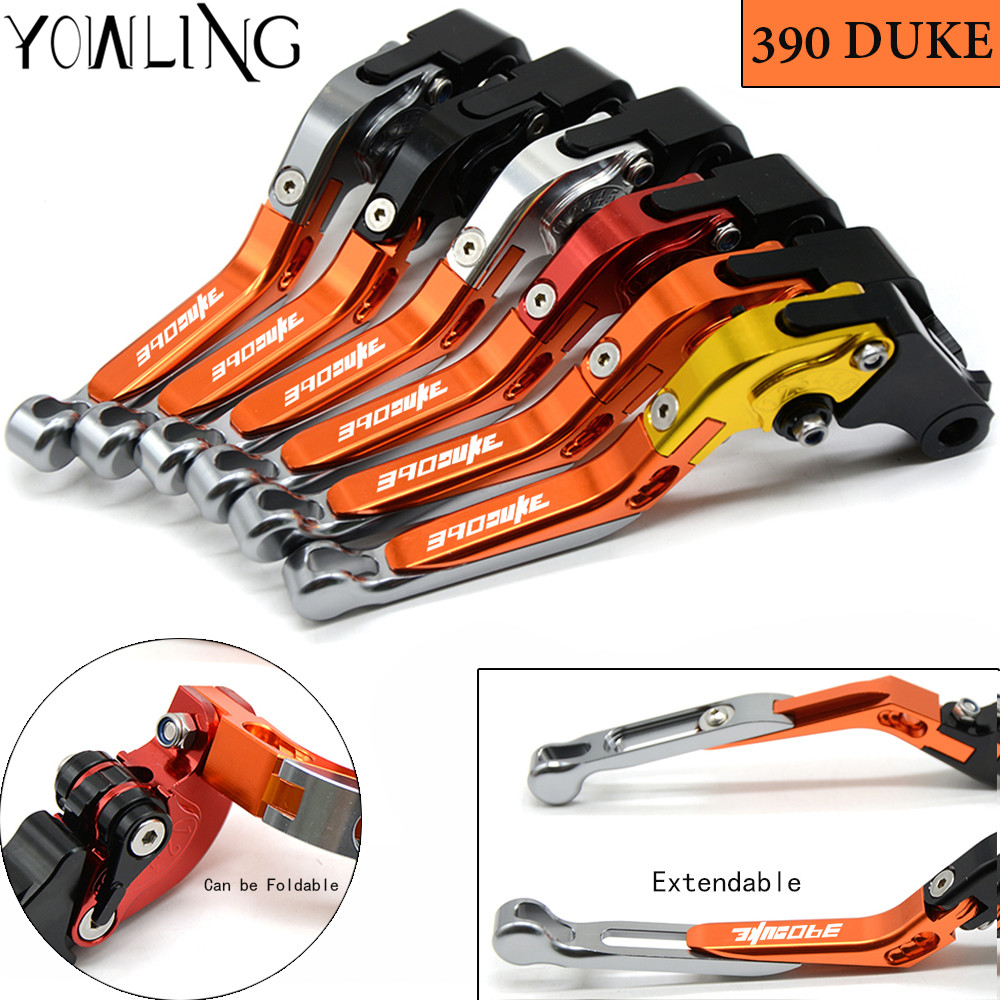Motorcycle levers Adjustable Foldable Lengthening brake clutch levers For ktm DUKE 390 RC390 390 Duke 2014 2015 2016 2017 for ktm rc390 rc200 rc125 125 duke high quality motorcycle cnc foldable extending brake clutch levers folding extendable lever