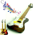As crianças podem play guitar rock guitarra elétrica instrumento de simulação educacional enigma