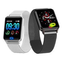 Smart Watch Fitness Tracker Bluetooth Smart Band Metal Sports Bracelet Activity Tracker Smart Wristband Smart Life PK mi Band