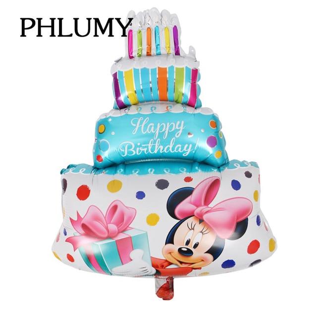 Strange Phlumy Large Mickey Minnie Birthday Cake Foil Balloons Wedding Funny Birthday Cards Online Overcheapnameinfo