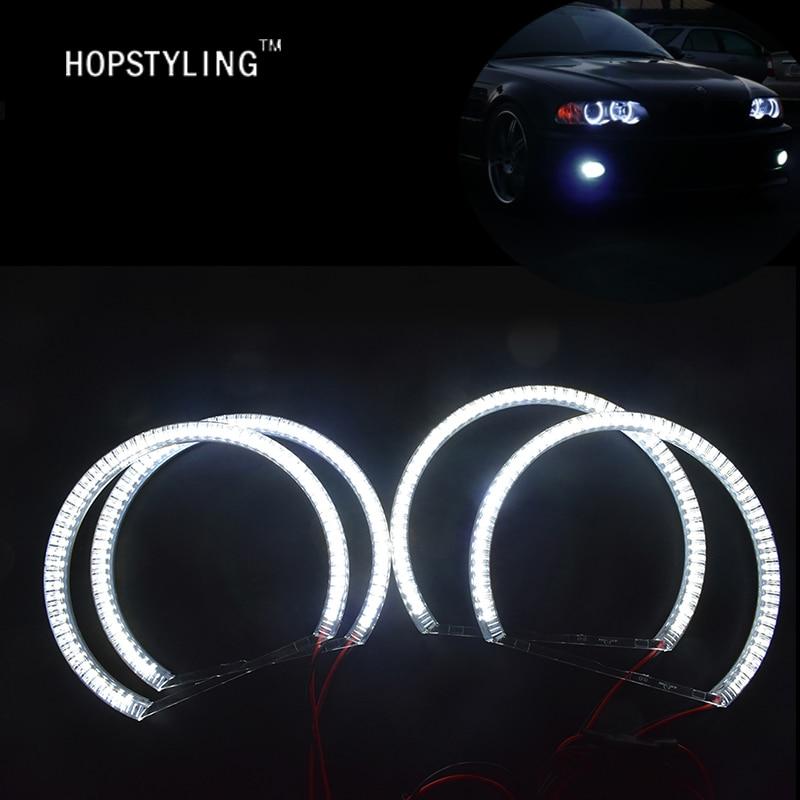 1 SET Xenon λευκό E36 E38 E39 E46 Led άγγελος μάτια - Φώτα αυτοκινήτων - Φωτογραφία 2
