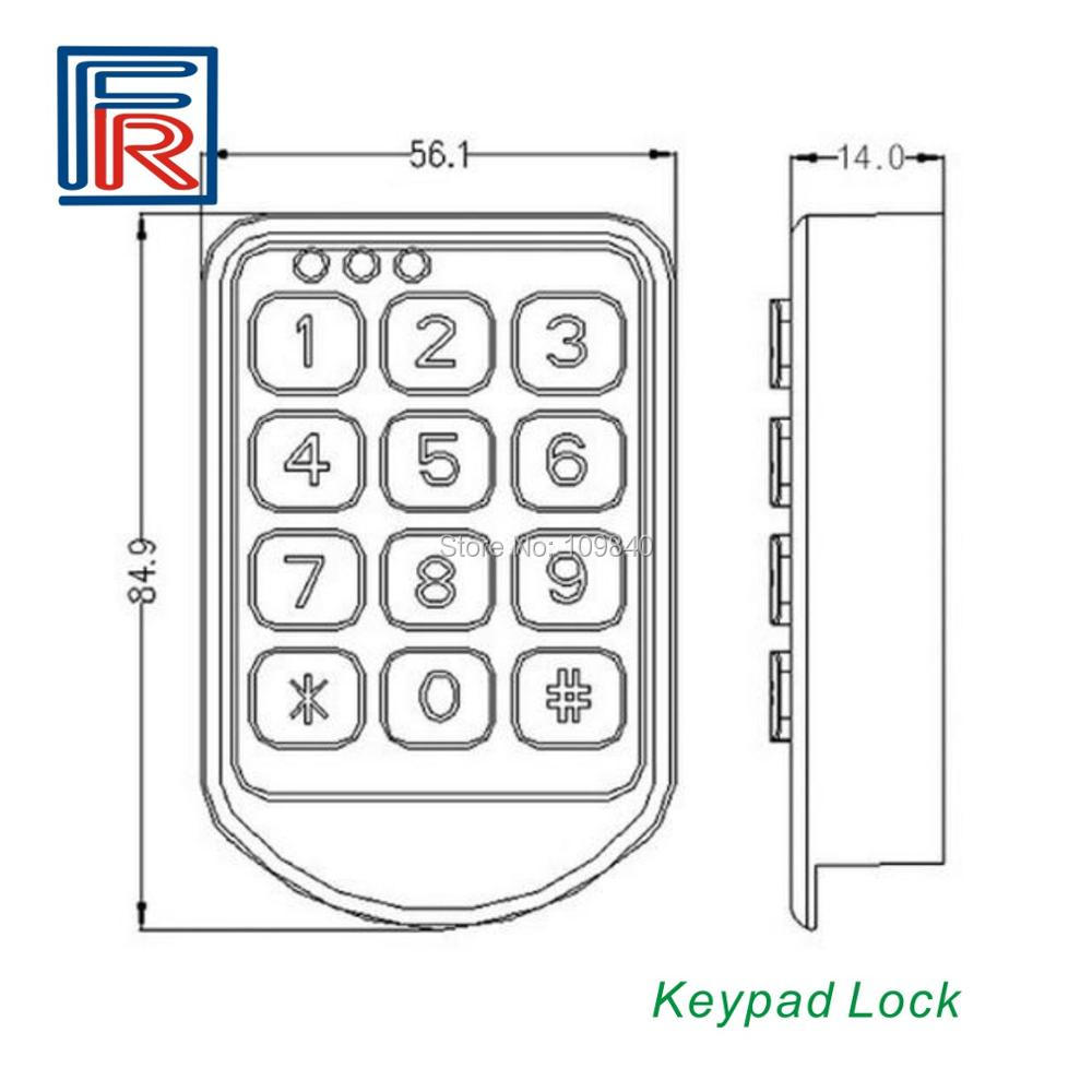 2020 ABS Electronic Password Keypad Number Cabinet Code Locks for office hotel home swimming pool