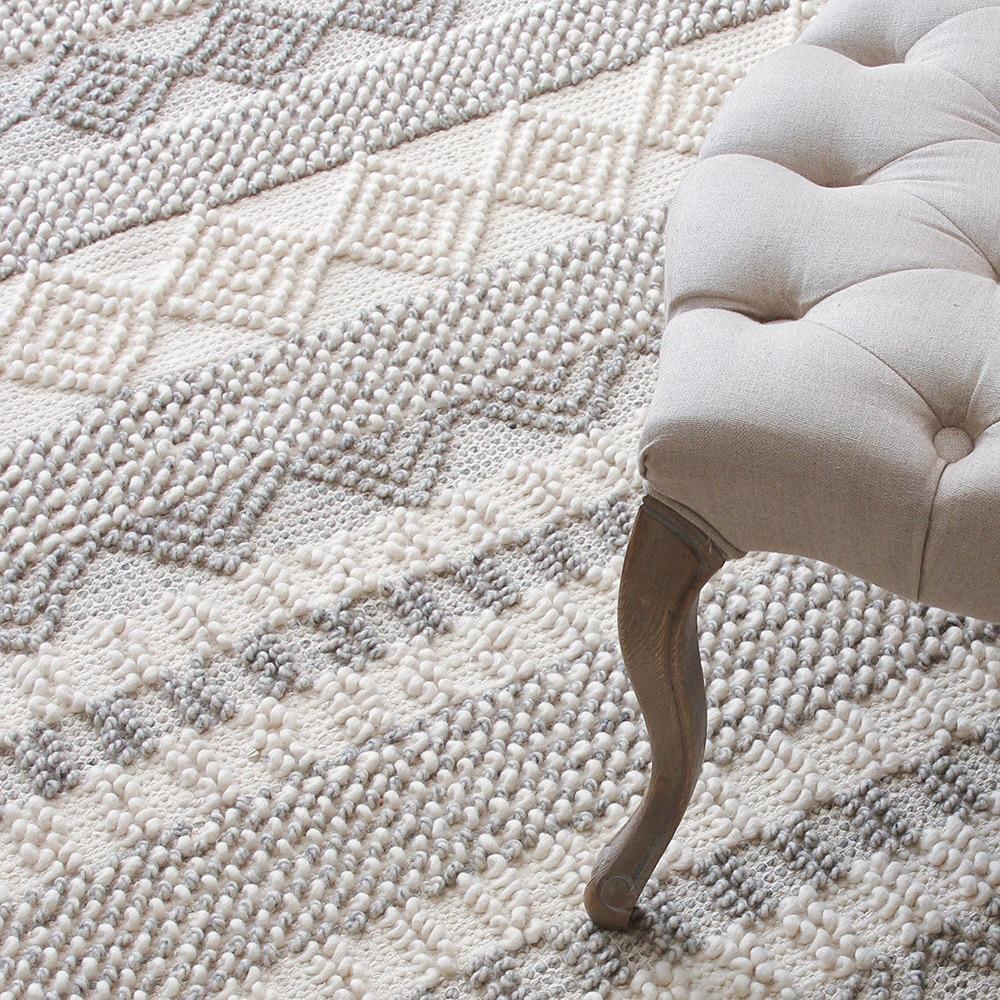 Kilim 100% laine fait main tapis géométrique indien gris persan chic tapis rayé moderne contemporain design chic style nordique