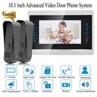 10 Inch Video Door Phone System Recording HD 1200TVL Doorbell Camera And HandsFree Intercom Door Bell