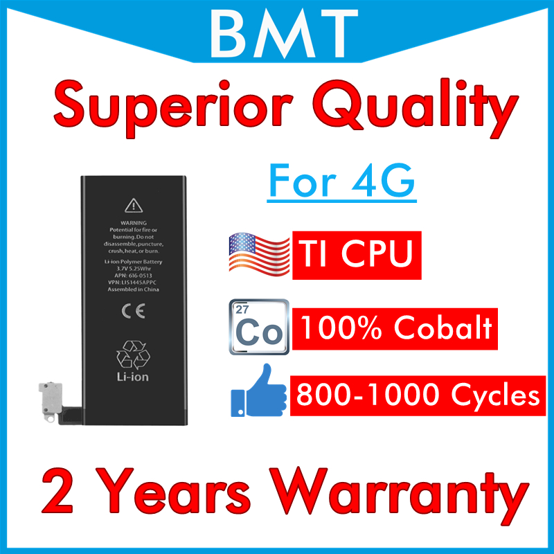 Battery for iPhone 4 Cpu-Cycle-Replacement Superior-Quality DHL UPS 13 300pcs 4G Can
