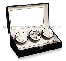 Качество кожа и деревянные коробки часы для RLX 6 + 7 хранение дисплей чехол коробка GC03-T31BW