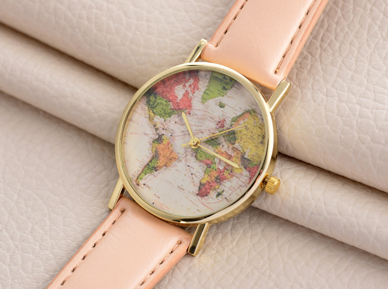 Aliexpress buy hot sale fashion lovers world map design gold aliexpress buy hot sale fashion lovers world map design gold dial leather strap students casual quartz watches gifts wj 4983 from reliable gift gumiabroncs Choice Image