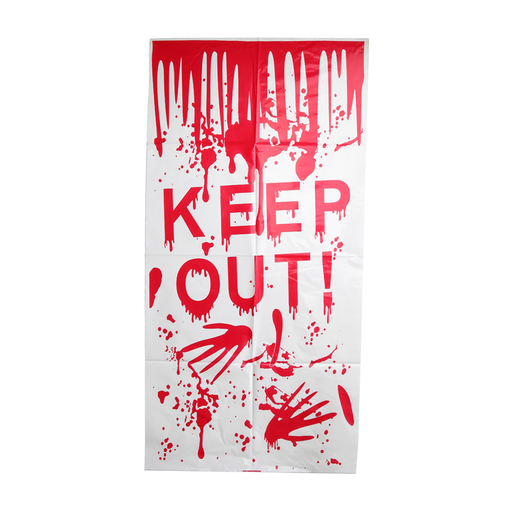 new hot bloody keep out handprint window door clings horror halloween party decoration horrifying halloween party accessories - Bloody Halloween Decorations