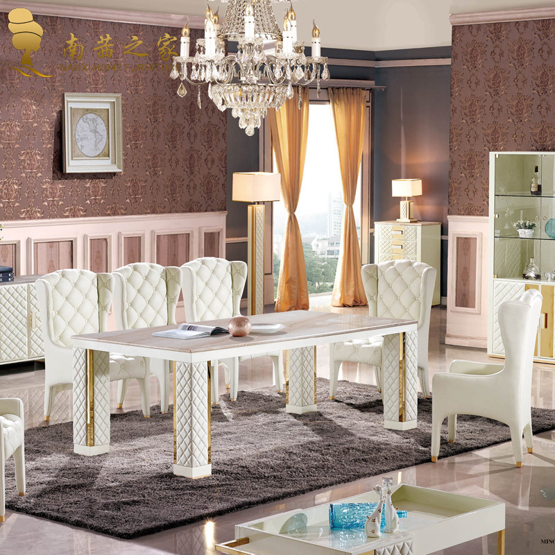 Italian Design Home Furniture Natural Design Dining Table Marble Stone Dining Room Furniture In