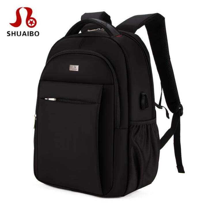 SHUAIBO Multifunctional  Luggage Men Backpack with External USB Charge fit 15.6 Men Fashion Waterproof Laptop BackpackSHUAIBO Multifunctional  Luggage Men Backpack with External USB Charge fit 15.6 Men Fashion Waterproof Laptop Backpack
