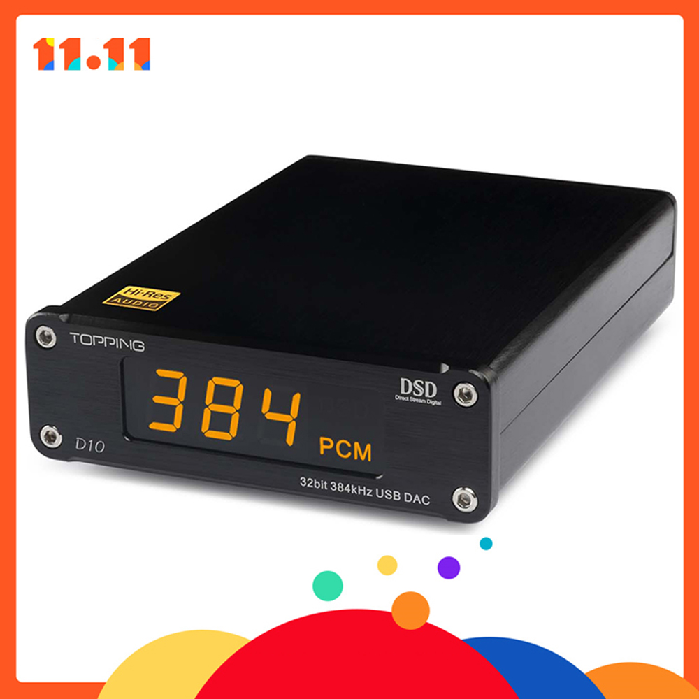 NEW TOPPING D10 MINI USB DAC DSD PCM384 CSS XMOS XU208 ES9018K2M OPA2134 amplificatore audio Decoder