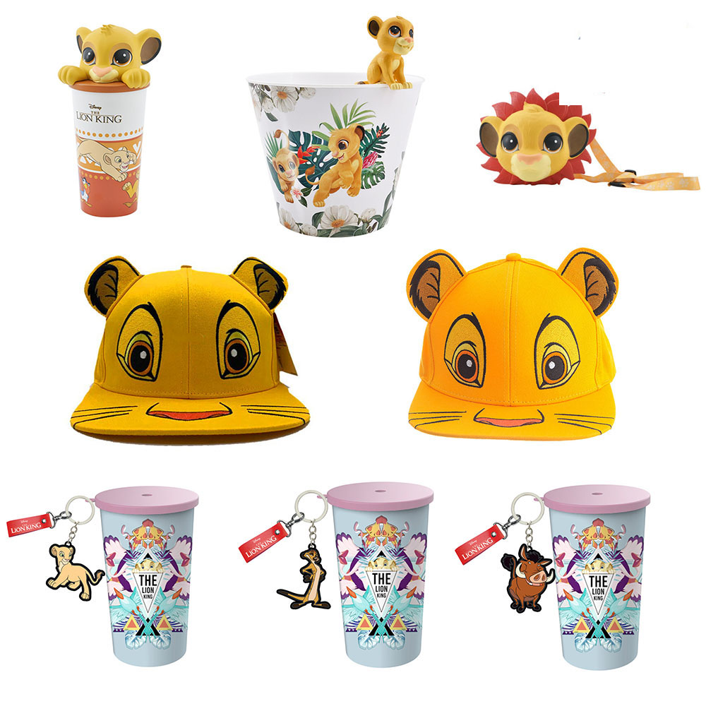 Cup-Toys King-Figure-Cap Popcorn Simba LION Anime Movie Children Gift Barrel for Funs