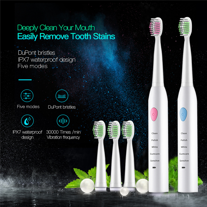 electric toothbrush Rechargeable Sonic Toothbrush Ultrasonic toothbrushes kids tooth brush Oral Hygiene dental care brushes 5 image