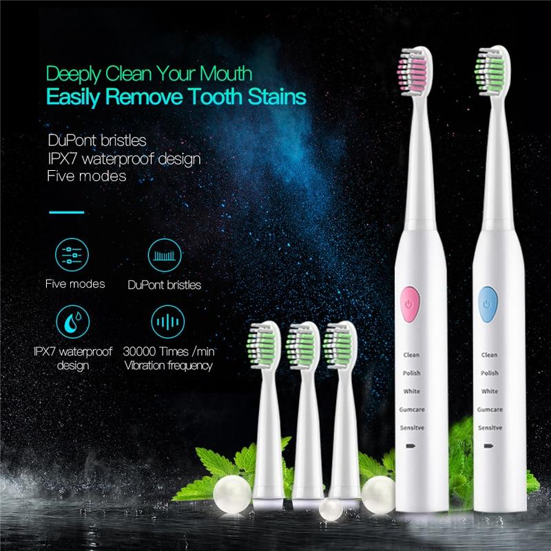 Lansung U2 de dientes eléctrico recargable niños cepillo de dientes eléctrico higiene Oral dientes ultrasónico niños 1